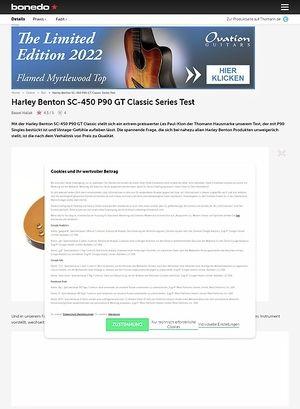 Bonedo.de Harley Benton SC-450 P90 GT Classic Series