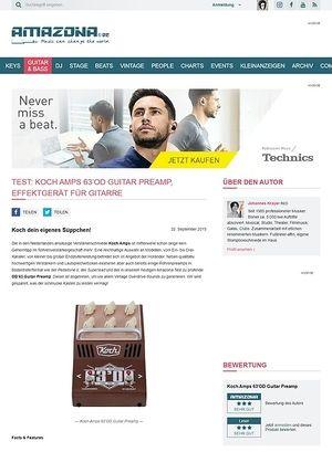 Amazona.de Test: Koch Amps 63'OD Guitar Preamp, Effektgerät für Gitarre