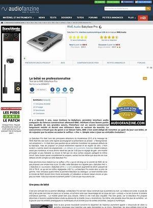 Audiofanzine.com RME Audio Babyface Pro