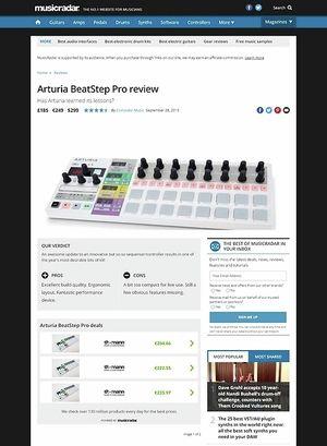 MusicRadar.com Arturia BeatStep Pro