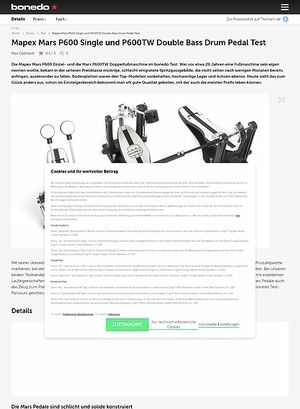 Bonedo.de Mapex Mars P600 Single und P600TW Double Bass Drum Pedal