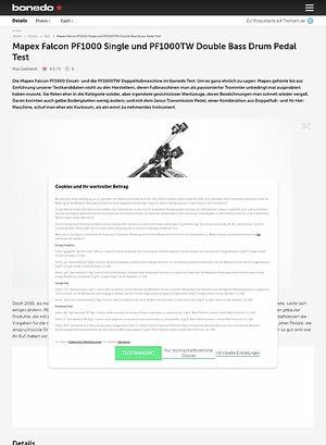 Bonedo.de Mapex Falcon PF1000 Single und PF1000TW Double Bass Drum Pedal