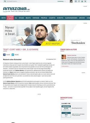 Amazona.de Test: Cort MBC-1 BK, E-Gitarre