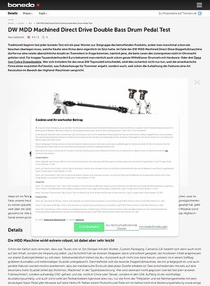 Bonedo.de DW MDD Machined Direct Drive Double Bass Drum Pedal