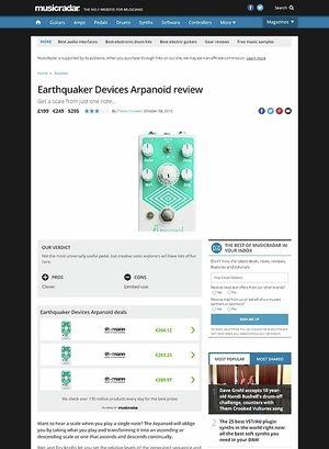 MusicRadar.com Earthquaker Devices Arpanoid