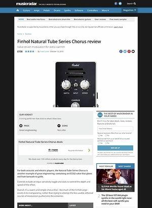 MusicRadar.com Finhol Natural Tube Series Chorus