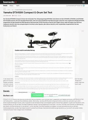 Bonedo.de Yamaha DTX450K Compact E-Drum Set