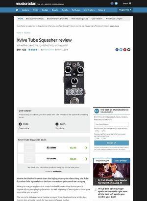 MusicRadar.com Xvive Tube Squasher