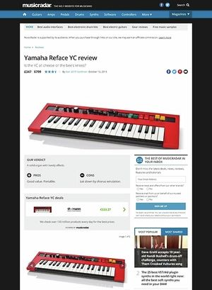 MusicRadar.com Yamaha Reface YC
