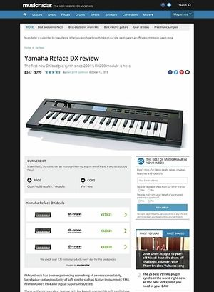 MusicRadar.com Yamaha Reface DX