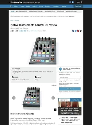 MusicRadar.com Native Instruments Kontrol D2