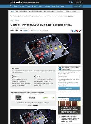 MusicRadar.com Electro Harmonix 22500 Dual Stereo Looper