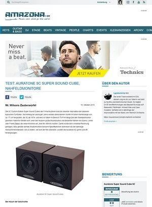 Amazona.de Test: Auratone 5C Super Sound Cube, Nahfeldmonitore