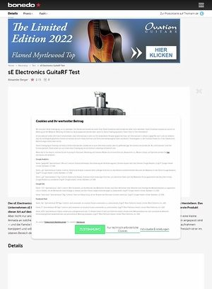 Bonedo.de sE Electronics GuitaRF