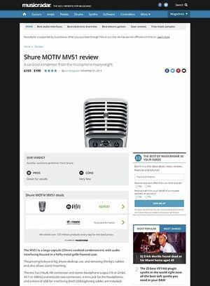 MusicRadar.com Shure MOTIV MV51