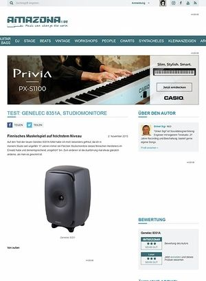 Amazona.de Test: Genelec 8351A, Studiomonitore