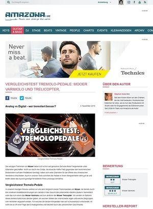 Amazona.de Vergleichstest: Mooer Varimolo und Mooer Trelicopter, Tremolopedale für Gitarre