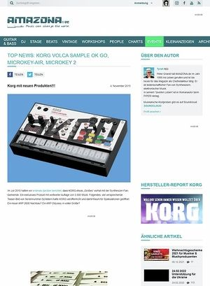 Amazona.de TOP NEWS: Korg Volca Sample OK Go, microKEY-Air, microKey 2