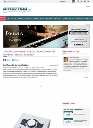 Amazona.de Special: Was bietet die UAD Plattform für Gitarristen und Basser?
