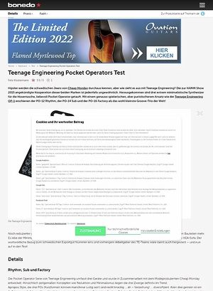 Bonedo.de Teenage Engineering Pocket Operators