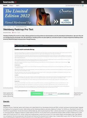 Bonedo.de Steinberg Padshop Pro