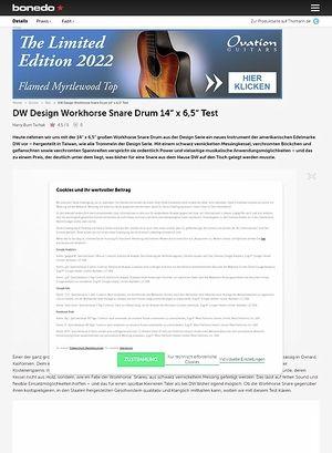 Bonedo.de DW Design Workhorse Snare Drum 14x6,5