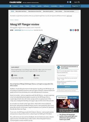 MusicRadar.com Moog MF Flanger