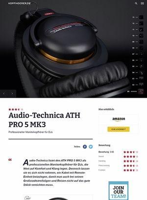 Kopfhoerer.de Audio-Technica ATH-PRO5 MK3 BK