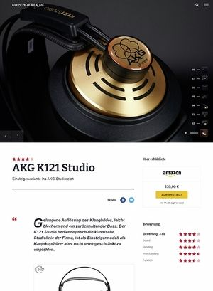 Kopfhoerer.de AKG K-121 Studio