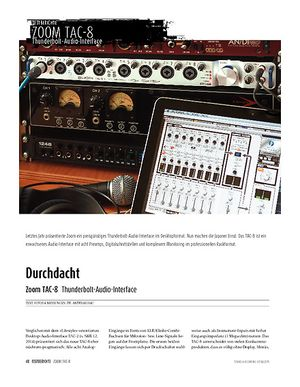 Sound & Recording Zoom TAC-8 - Thunderbolt-Audio-Interface