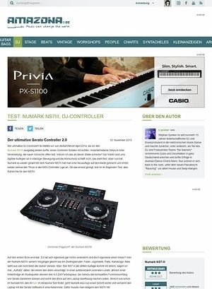 Amazona.de Test: Numark NS7III, DJ-Controller