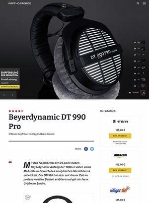 Kopfhoerer.de Beyerdynamic DT-990 Pro