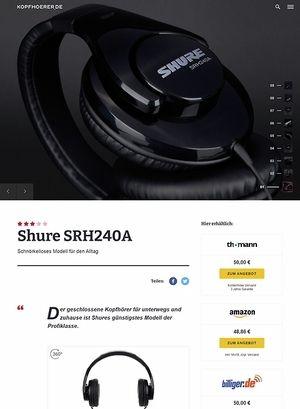 Kopfhoerer.de Shure SRH240