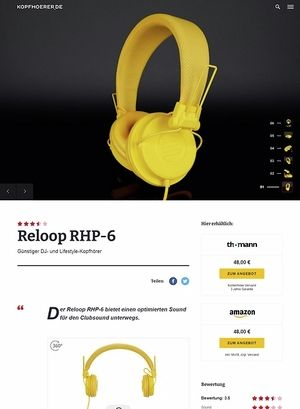 Kopfhoerer.de Reloop RHP-6 Series Yellow