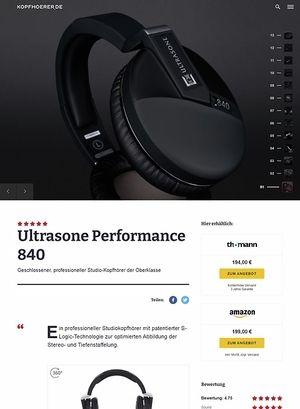 Kopfhoerer.de Ultrasone Performance 840