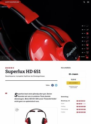 Kopfhoerer.de Superlux HD-651 Red