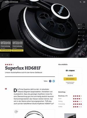 Kopfhoerer.de Superlux HD-681 F