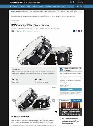 MusicRadar.com PDP Concept Black Wax