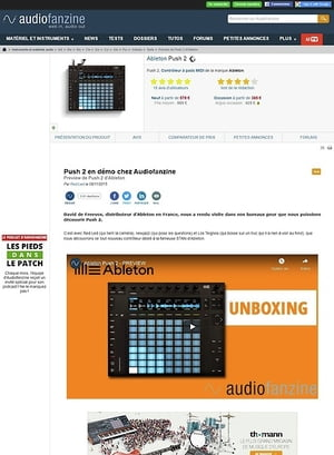Audiofanzine.com Ableton Push 2