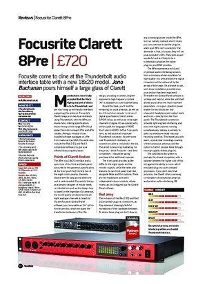 Future Music Focusrite Clarett 8Pre
