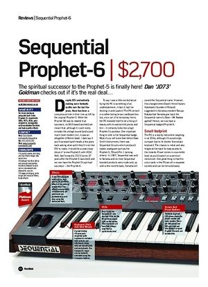 Future Music Sequential Prophet 6