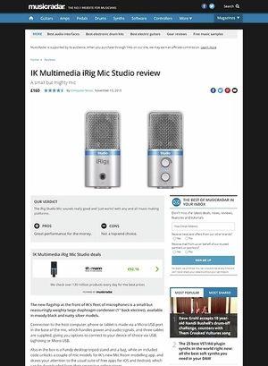 MusicRadar.com IK Multimedia iRig Mic Studio