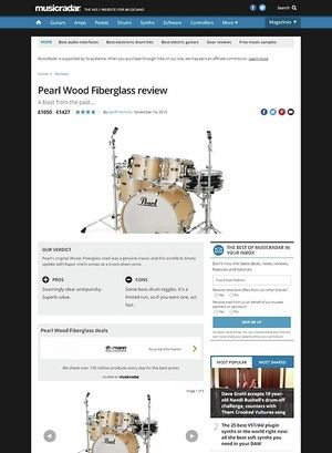MusicRadar.com Pearl Wood Fiberglass