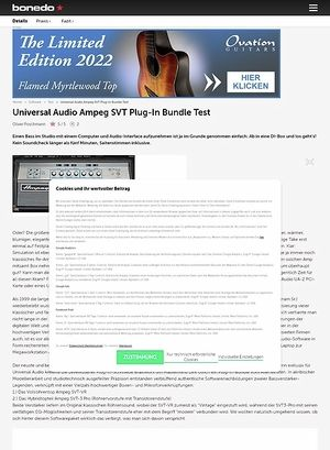 Bonedo.de Universal Audio Ampeg SVT Plug-In Bundle