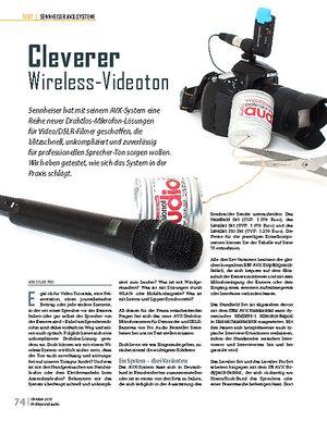 Professional Audio Sennheiser AVX-Systeme