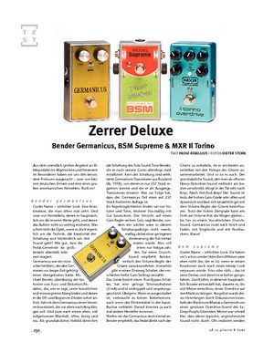 Gitarre & Bass Bender Germanicus, BSM Supreme & MXR Il Torino
