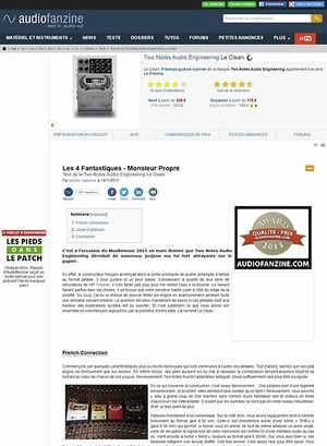 Audiofanzine.com Two Notes Audio Engineering Le Clean