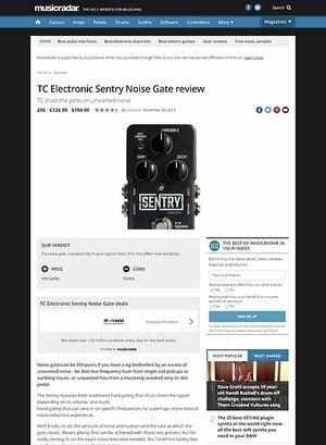 MusicRadar.com TC Electronic Sentry Noise Gate