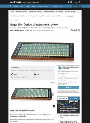 MusicRadar.com Roger Linn Design Linnstrument