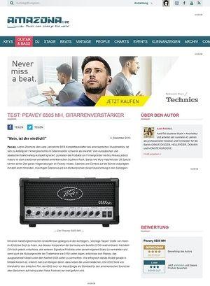 Amazona.de Test: Peavey 6505 MH, Gitarrenverstärker